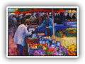 Saturday Market, Langudoc 16x12 Oil $750